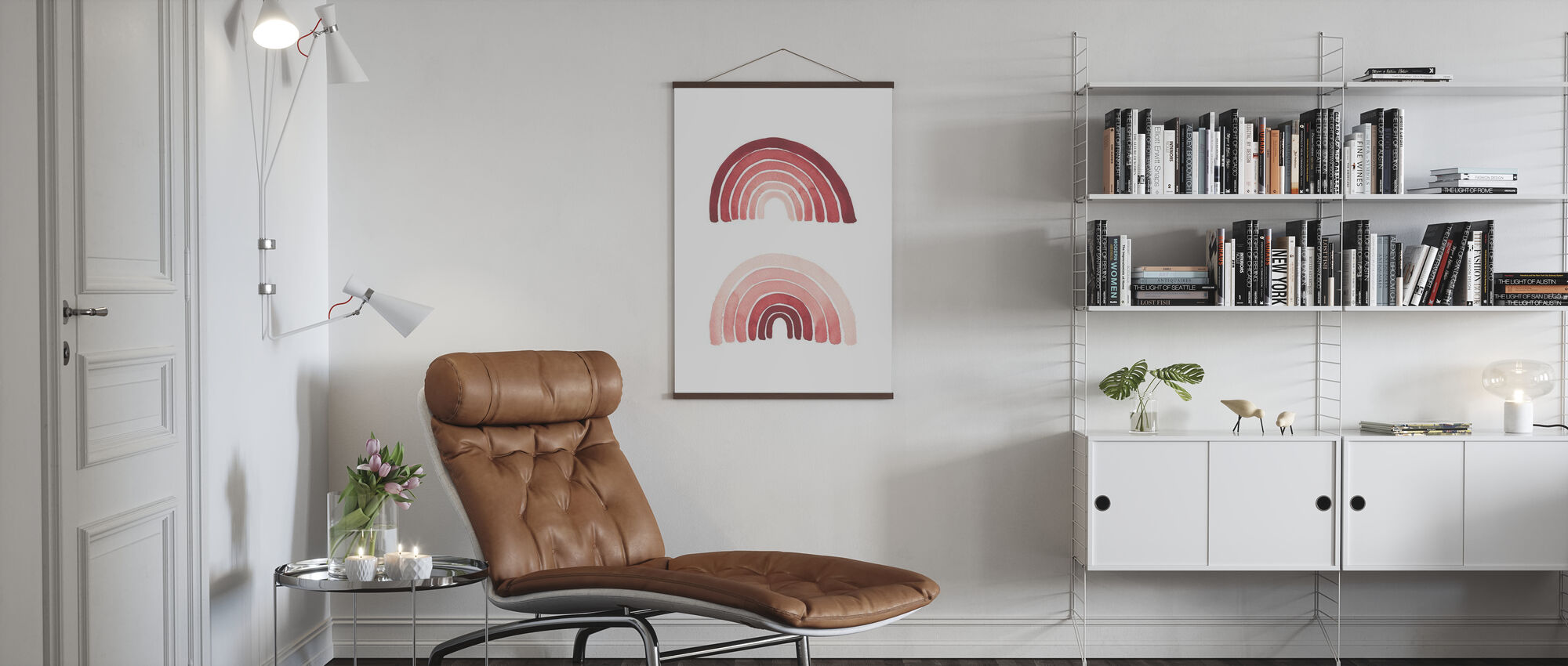 Pink Rainbows - Poster - Living Room