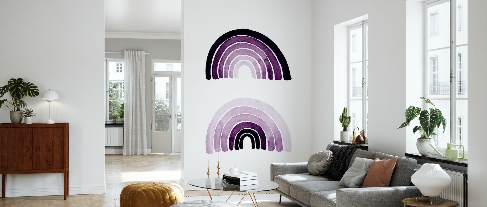 Purple Rainbows - Wallpaper - Living Room