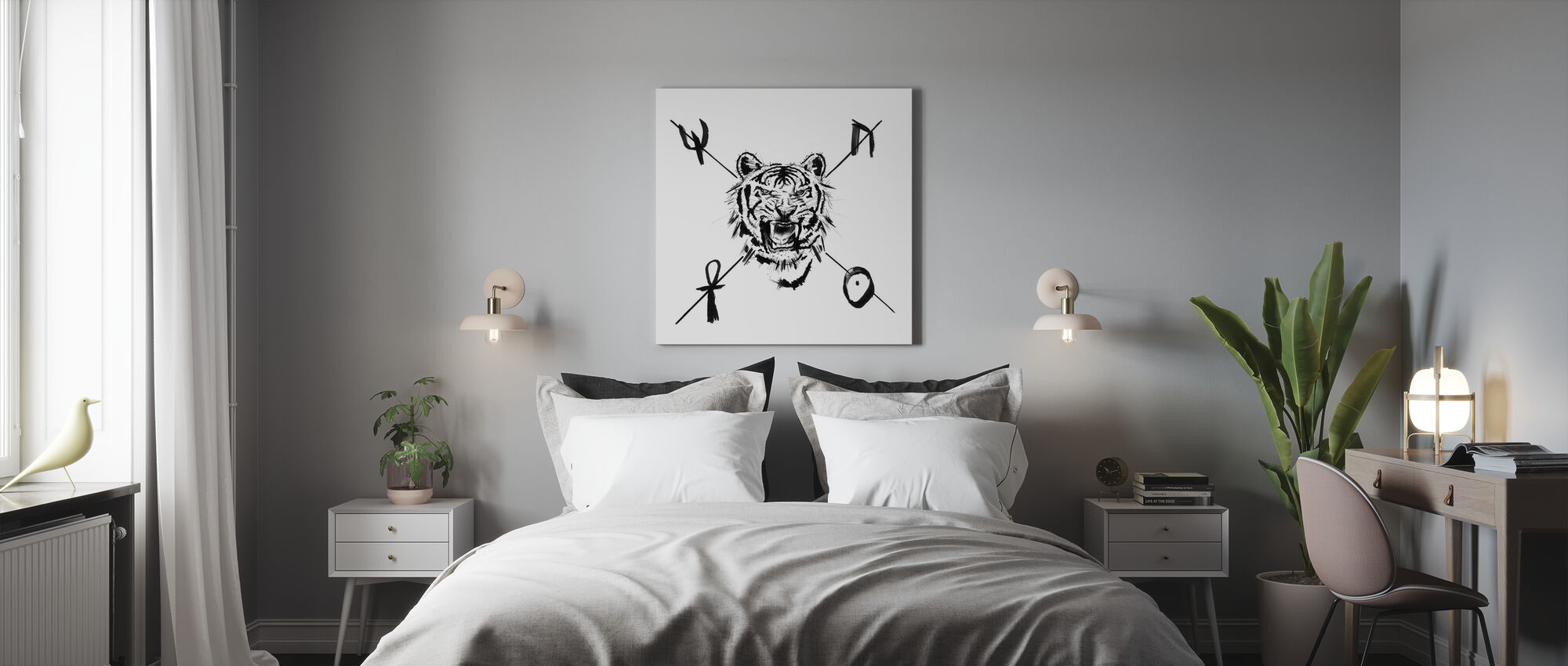 Mystieke Tijger - Canvas print - Slaapkamer