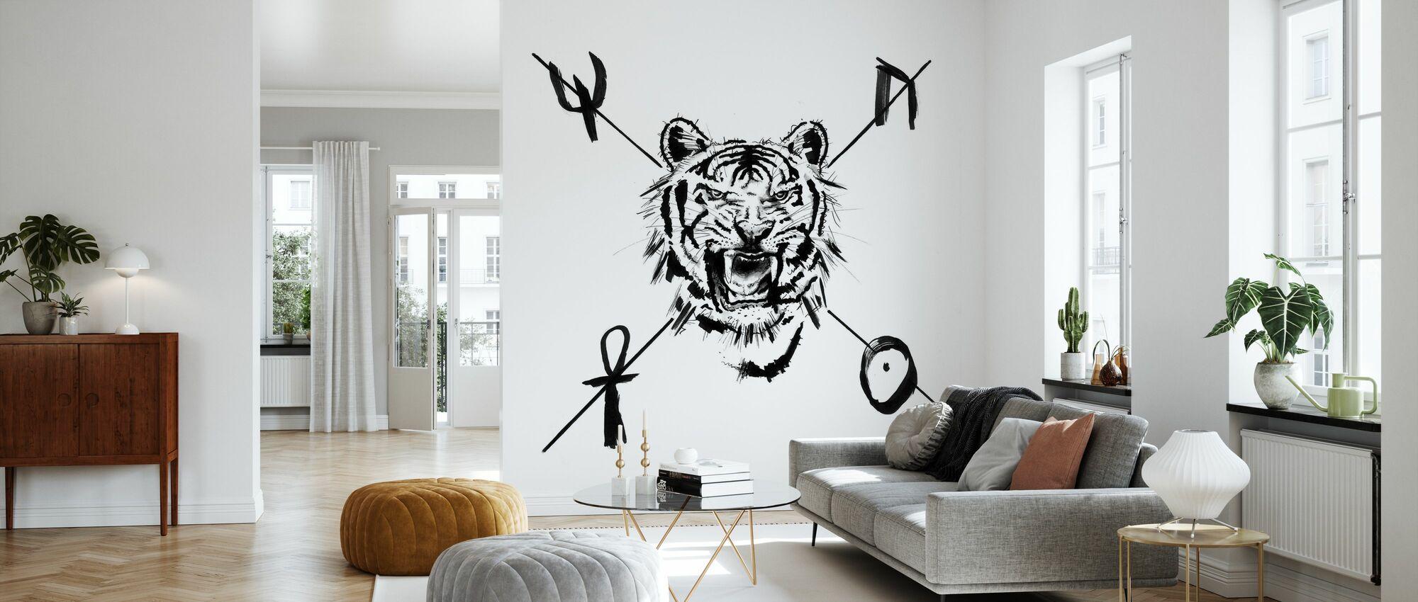 Mystic Tiger - Wallpaper - Living Room