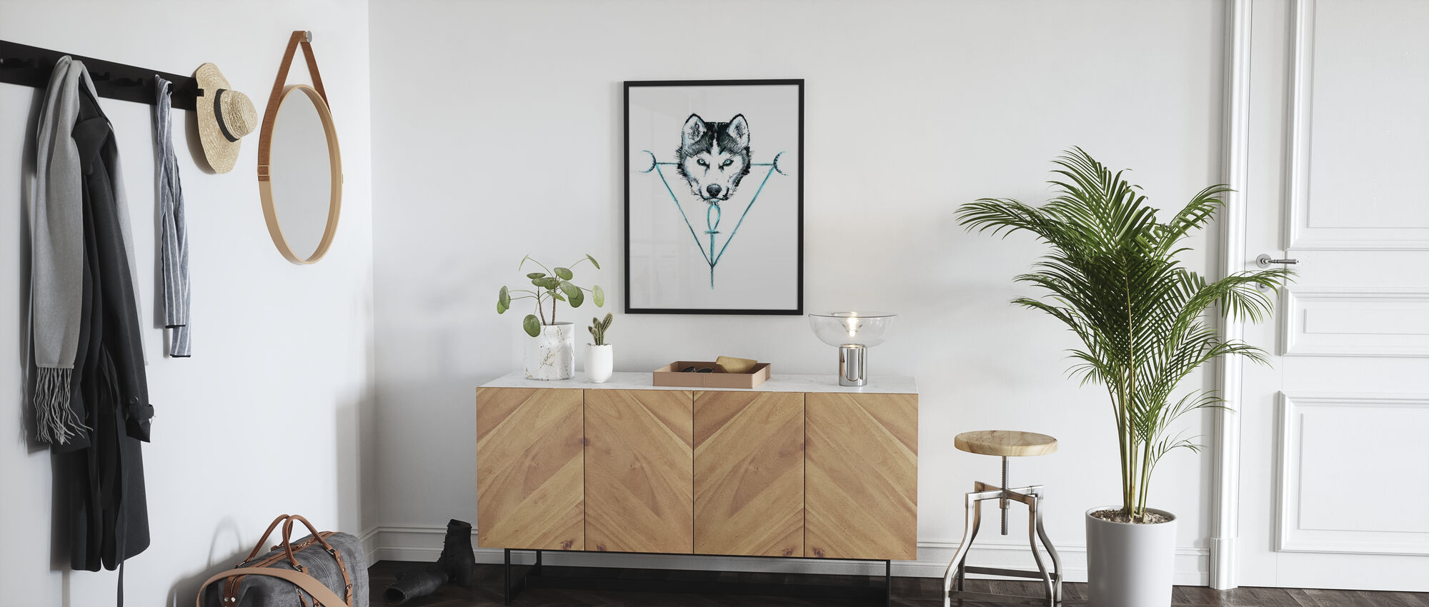 Mystic Wolf - Poster - Hallway
