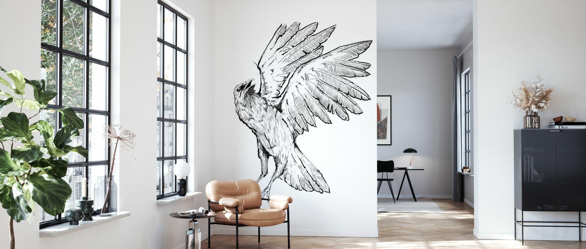 Crow - Wallpaper - Living Room