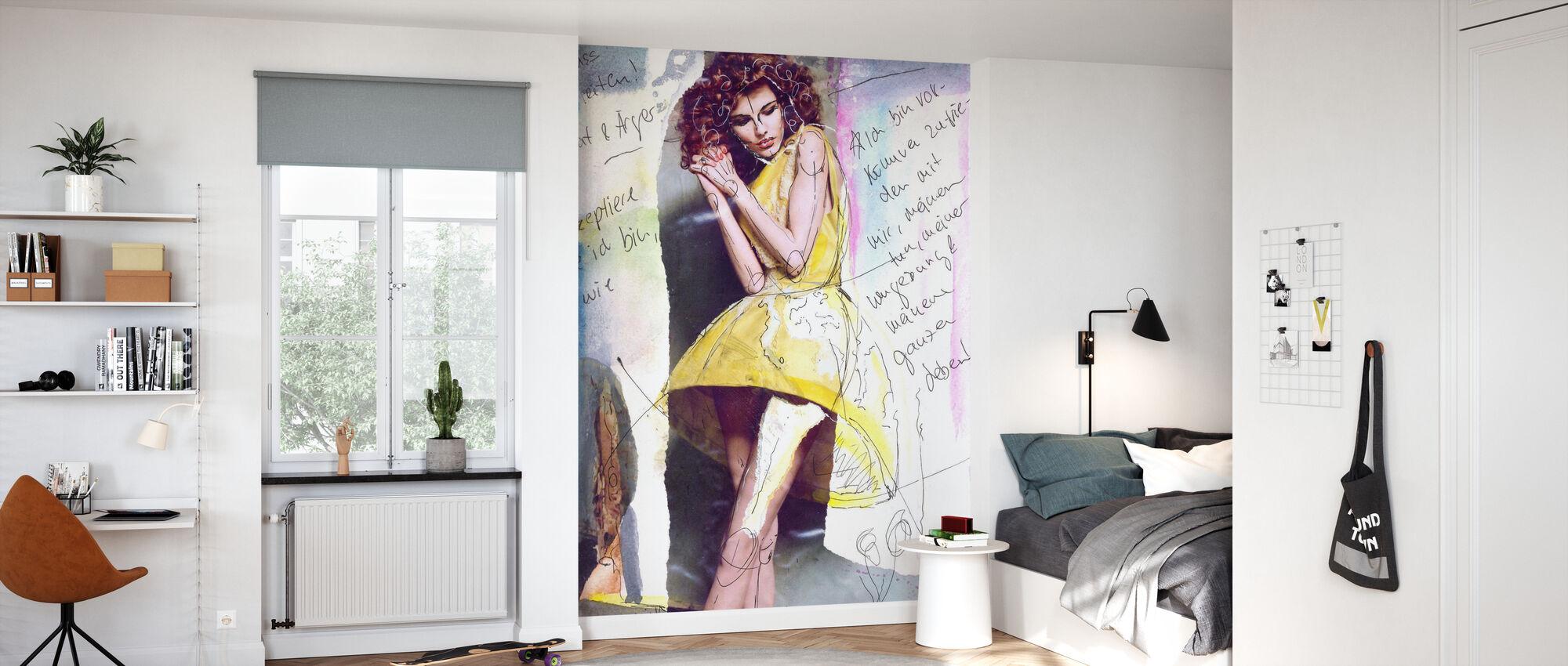 Yellow Dress - Wallpaper - Kids Room