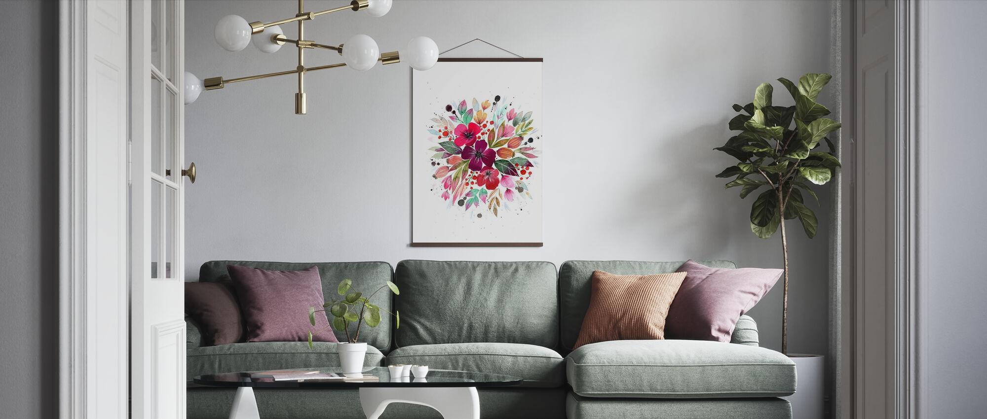 Sommar Bukett - Poster - Vardagsrum