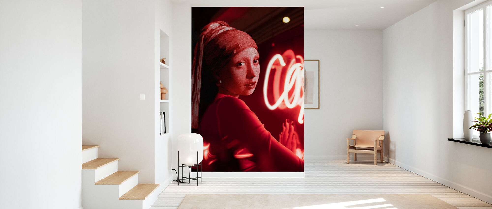 Girl with Pearl Earring Night Out - Wallpaper - Hallway