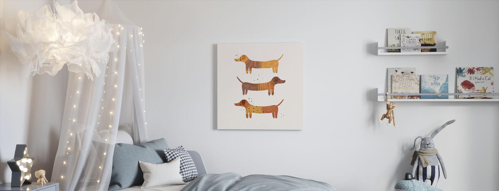 Three badgers - Canvas print - Kids Room