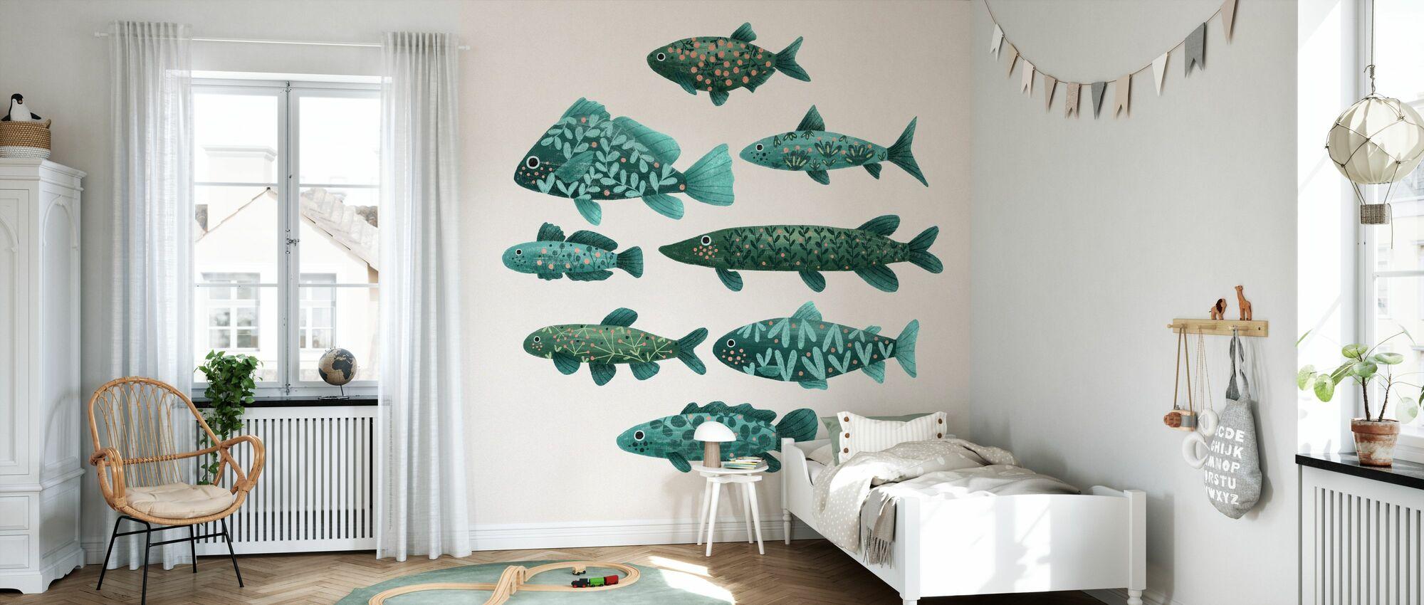 Fisk - Tapet - Barnrum