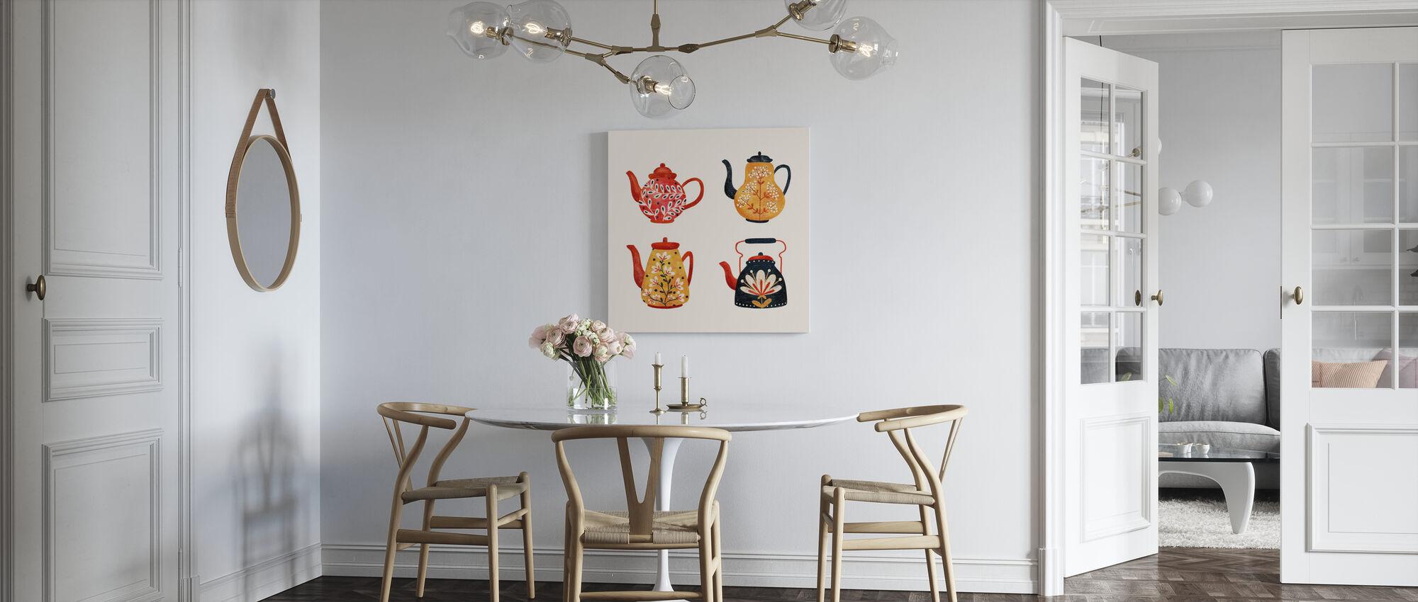 Teapots - Canvas print - Kitchen