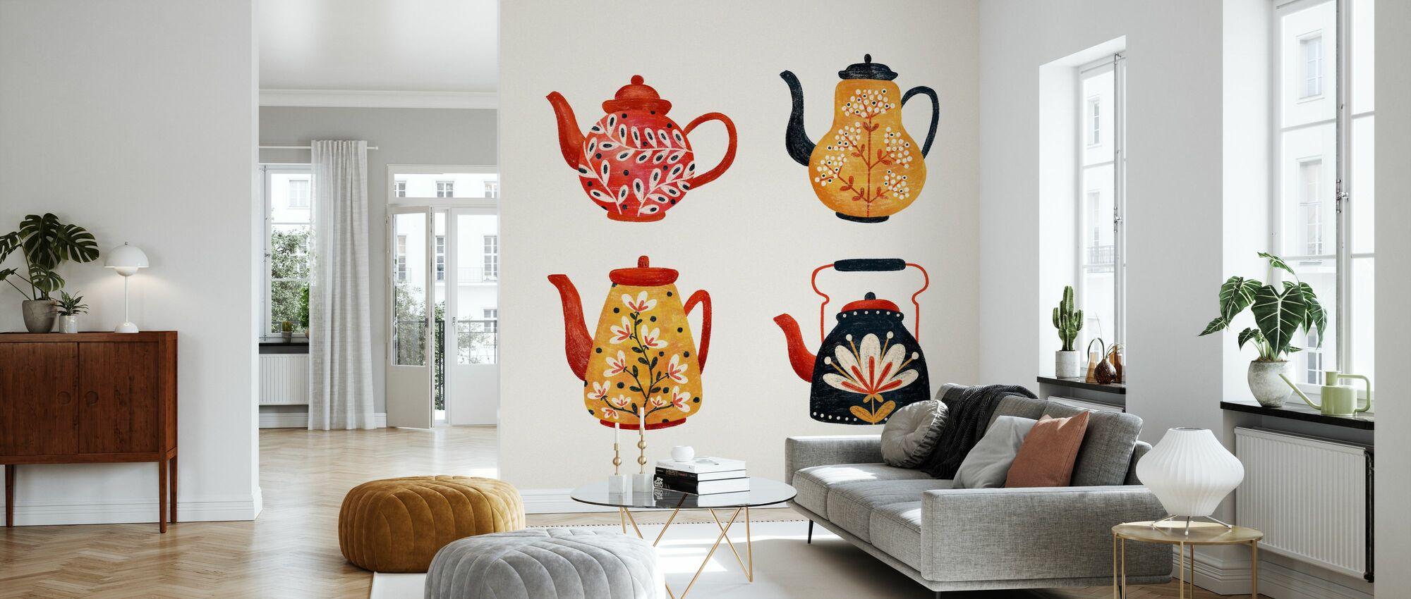 Teapots - Wallpaper - Living Room