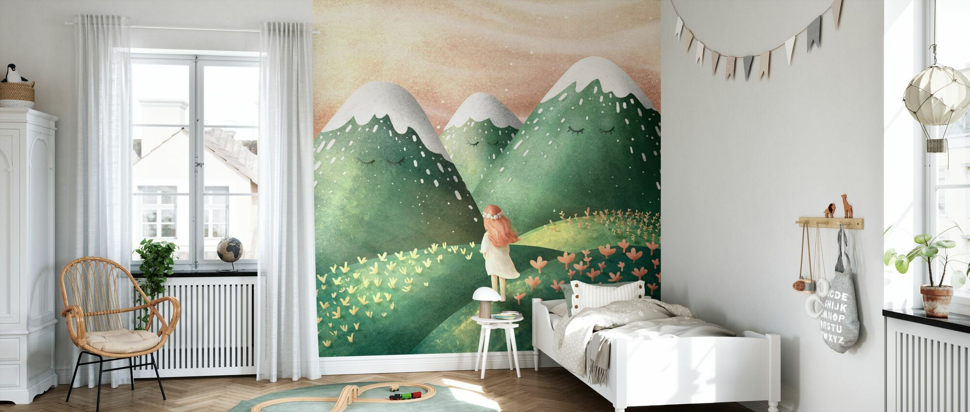 Dreamy - Hill - Wallpaper - Kids Room