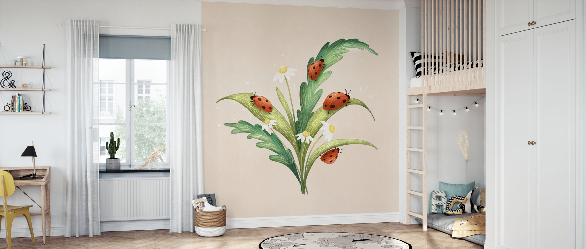 Marienkaefer - Wallpaper - Kids Room