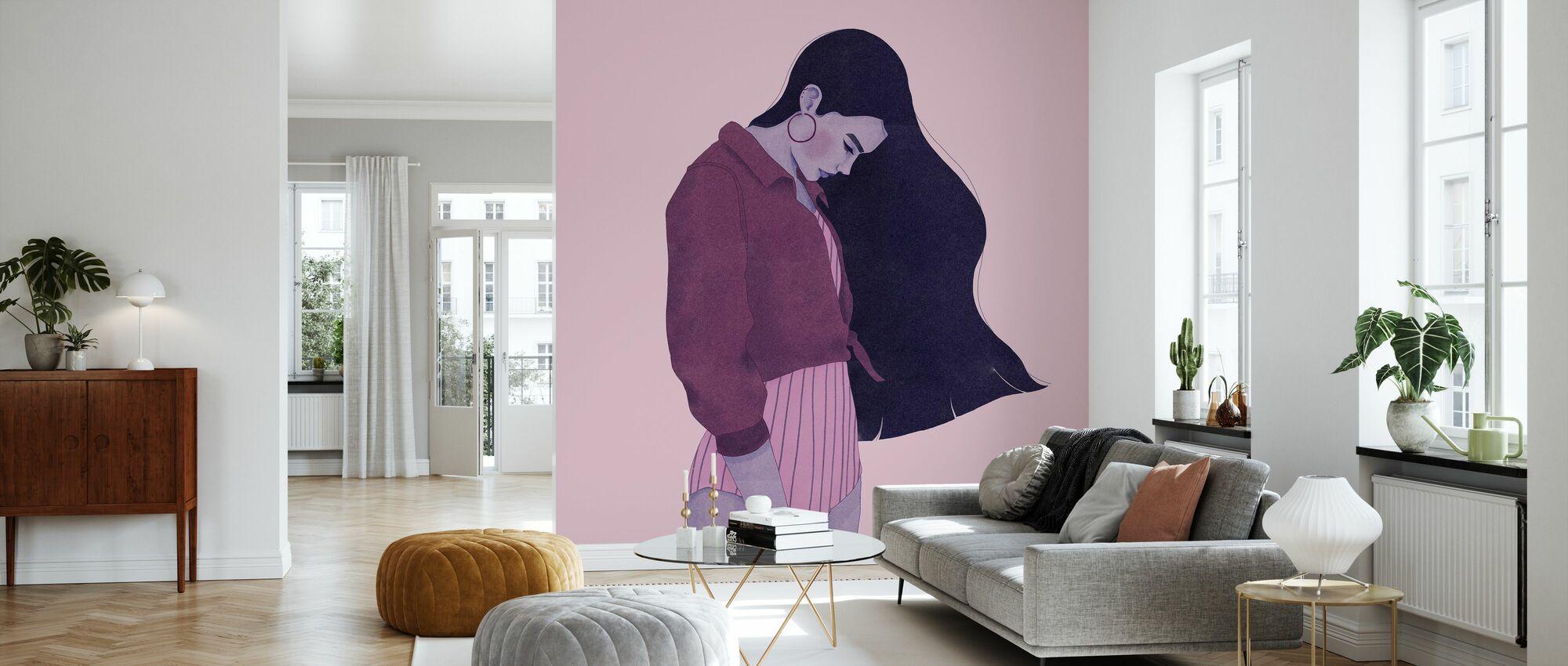 Hair Like Night Sky - Wallpaper - Living Room