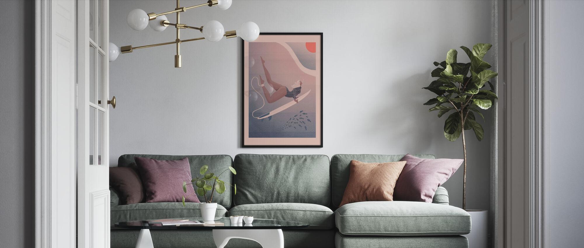 Ins Blaue - Poster - Wohnzimmer