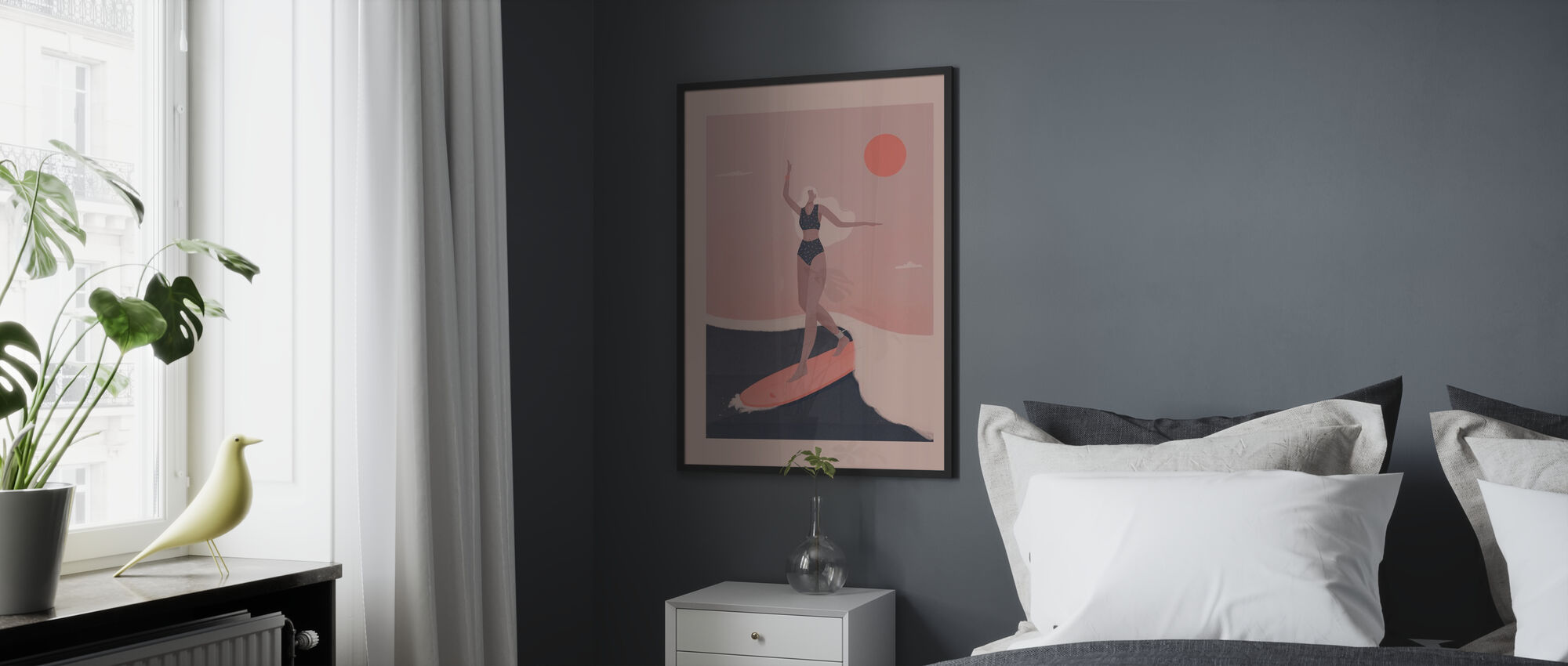 Into the Surf - Framed print - Bedroom