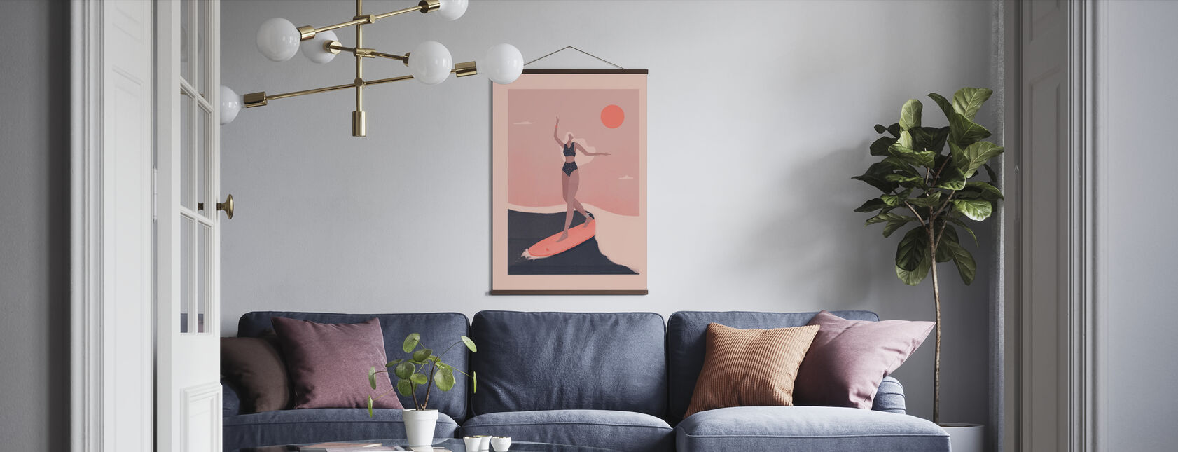 In de Surf - Poster - Woonkamer