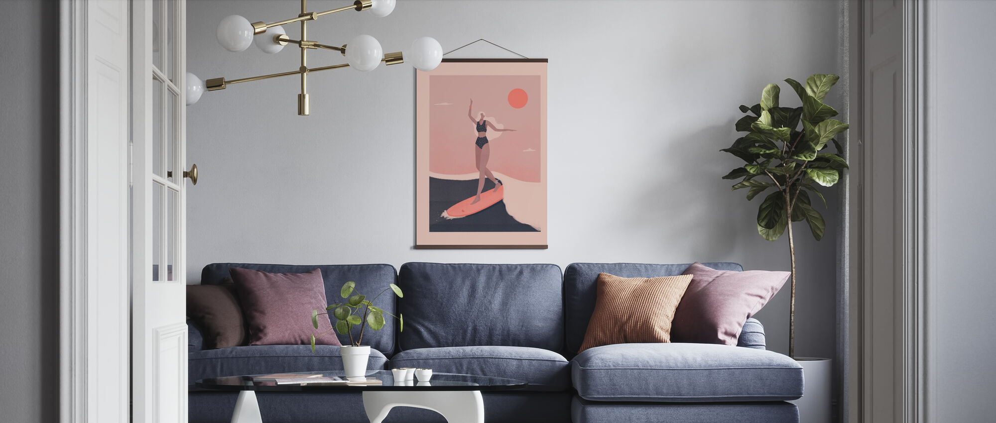 Into the Surf - Poster - Living Room
