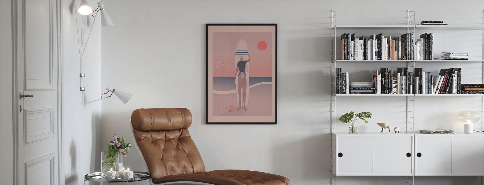 Røde Himmelblå Hav - Plakat - Stue