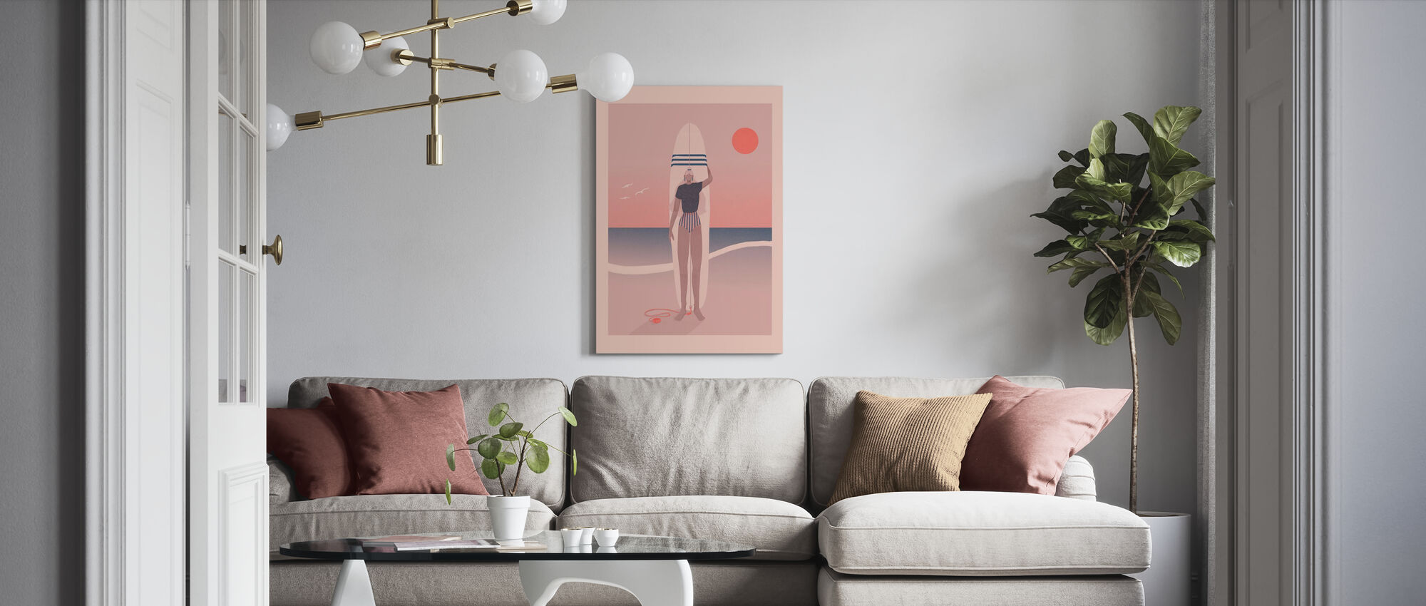 Red Sky Blue Sea - Canvas print - Living Room