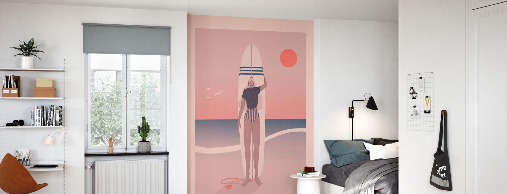 Rouge Ciel Bleu Mer - Papier peint - Chambre des enfants