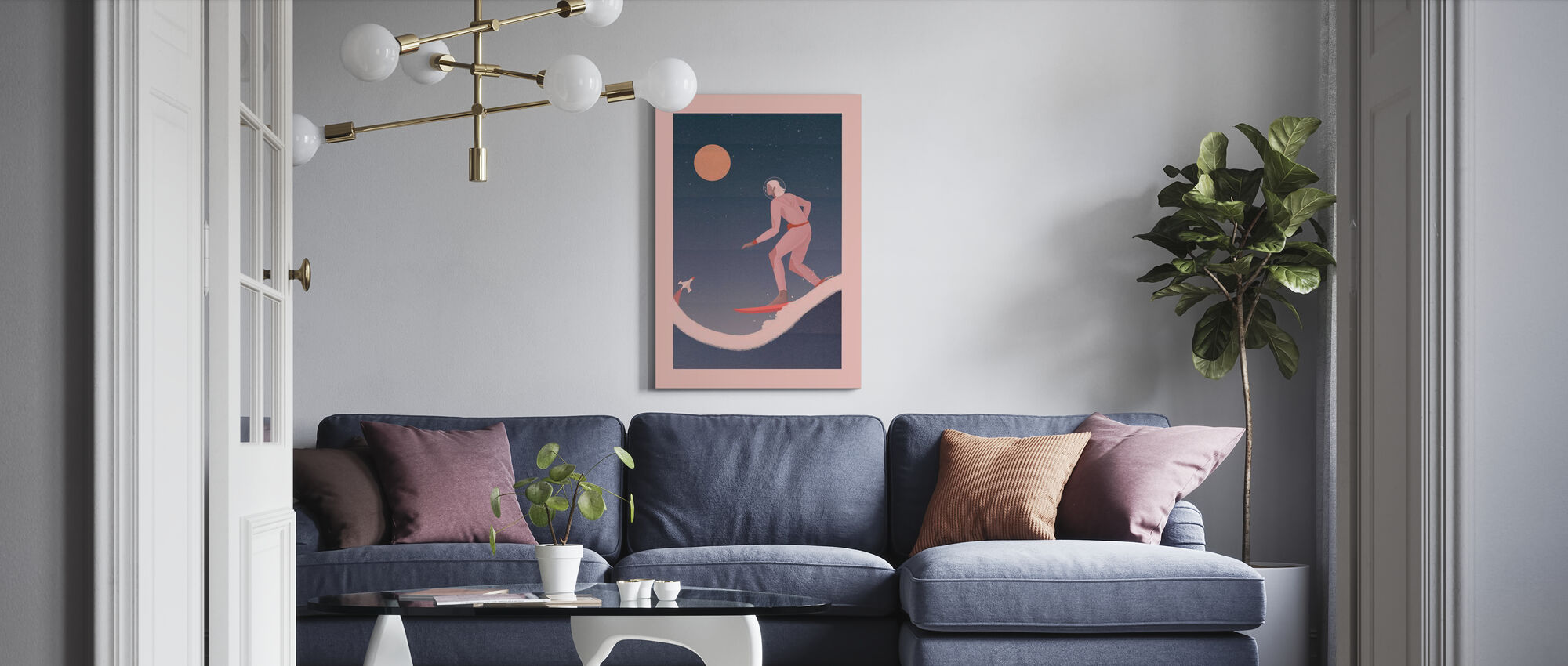 Surfing on other Planets - Canvas print - Living Room