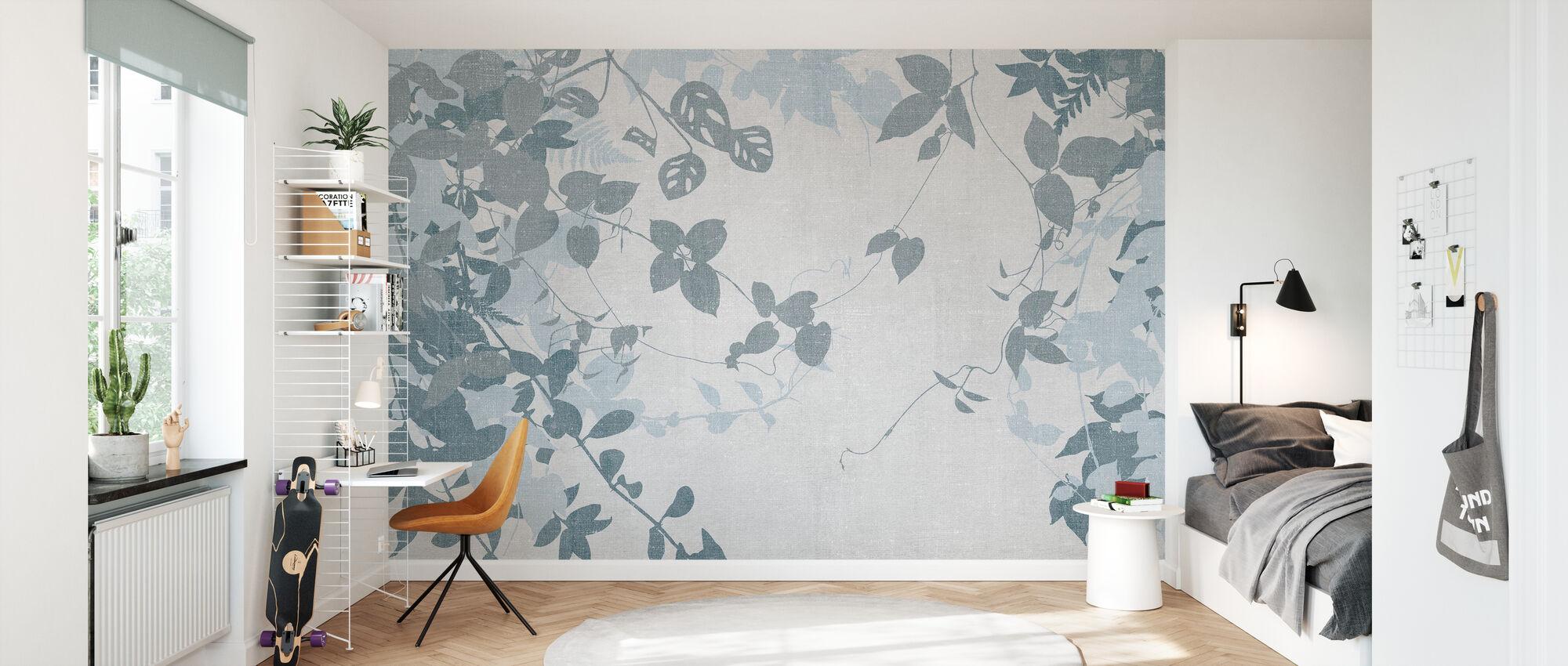 Forêt de Lierre - Bleu - Papier peint - Chambre des enfants