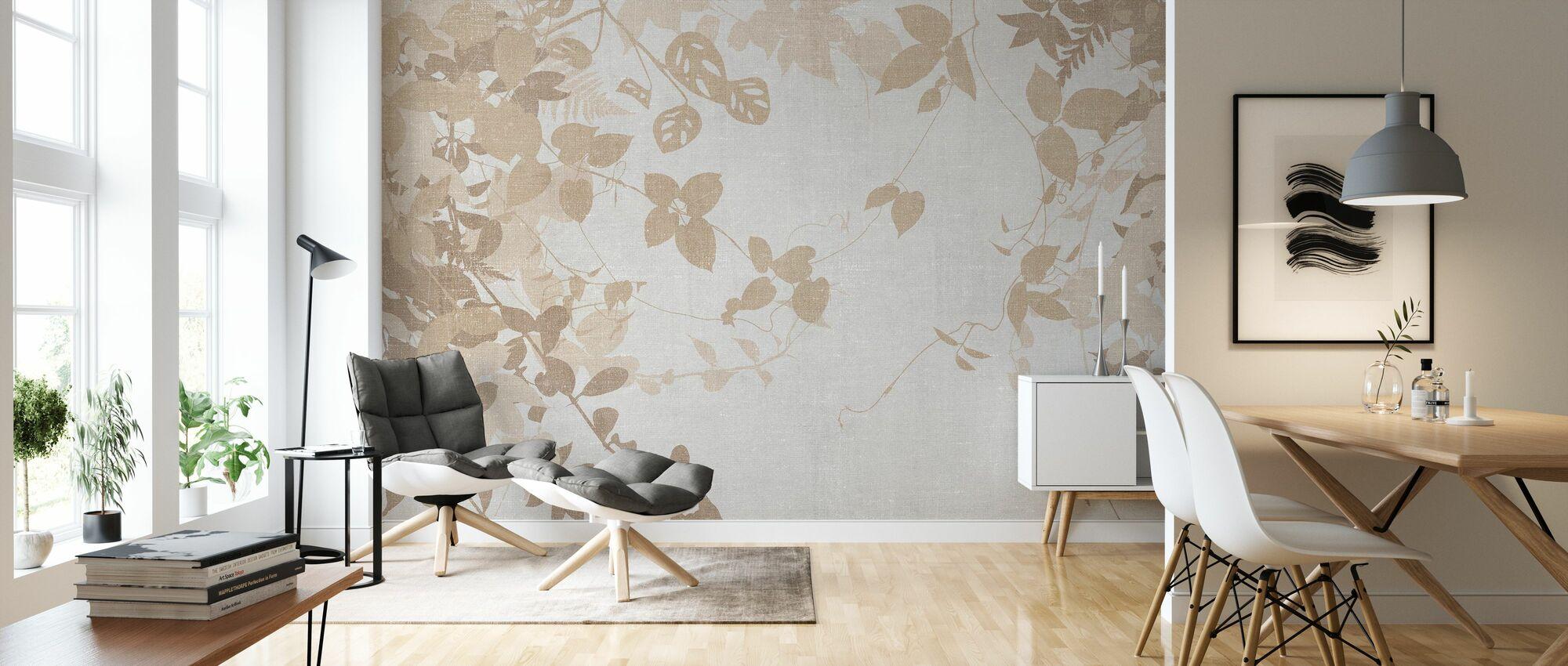 Ivy Forest - Marrón - Papel pintado - Salón