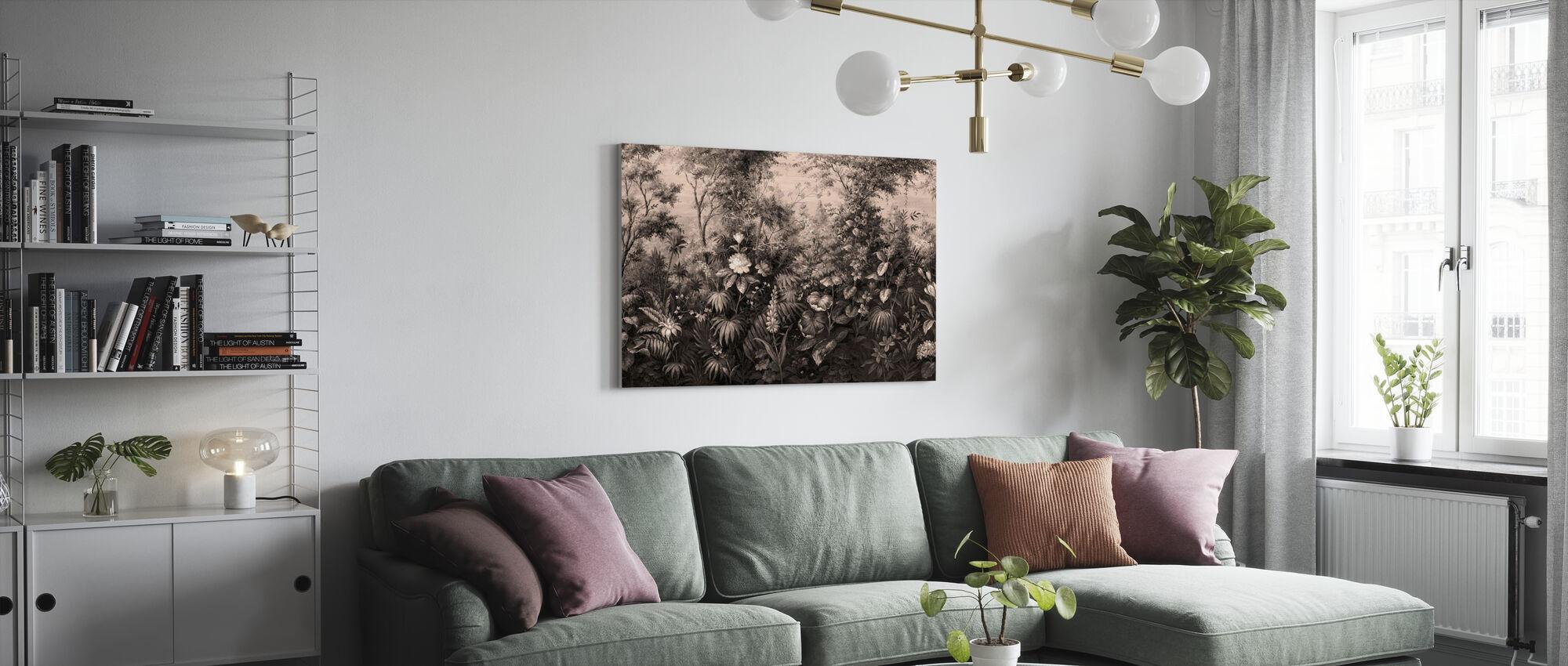 Deific Botanica - Sépia - Impression sur toile - Salle à manger