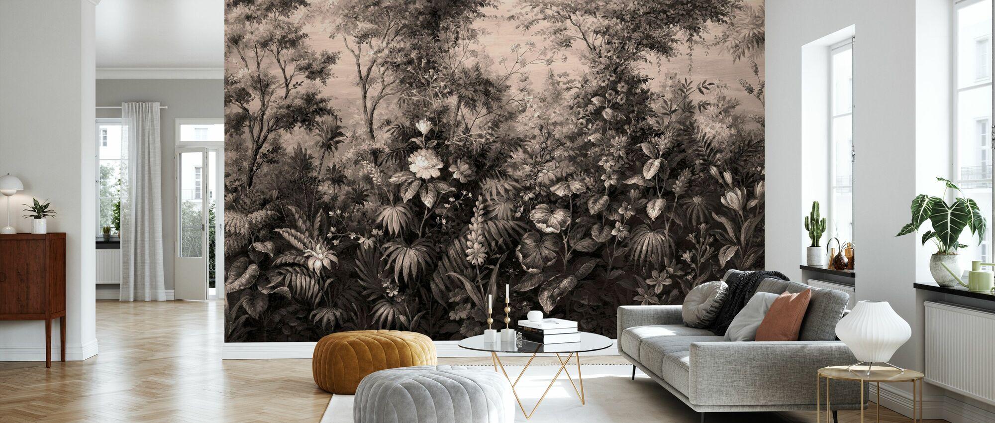 Deific Botanica - Sepia - Tapet - Stue