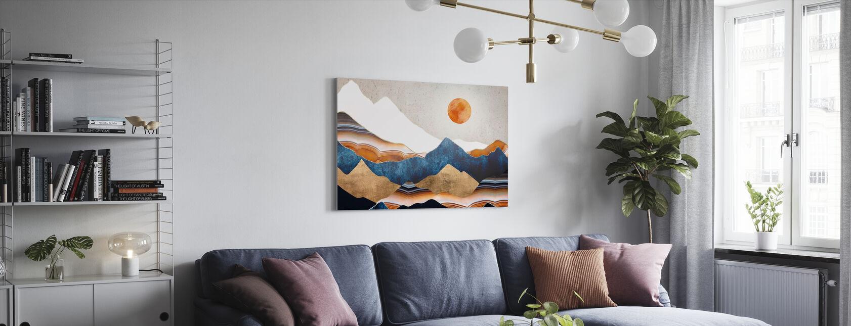 Amber Sun - Canvas print - Living Room