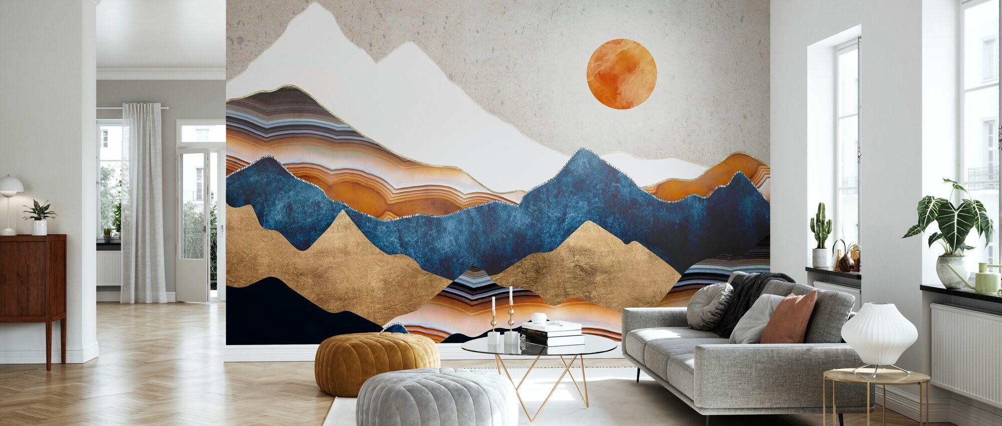 Amber Sun - Wallpaper - Living Room