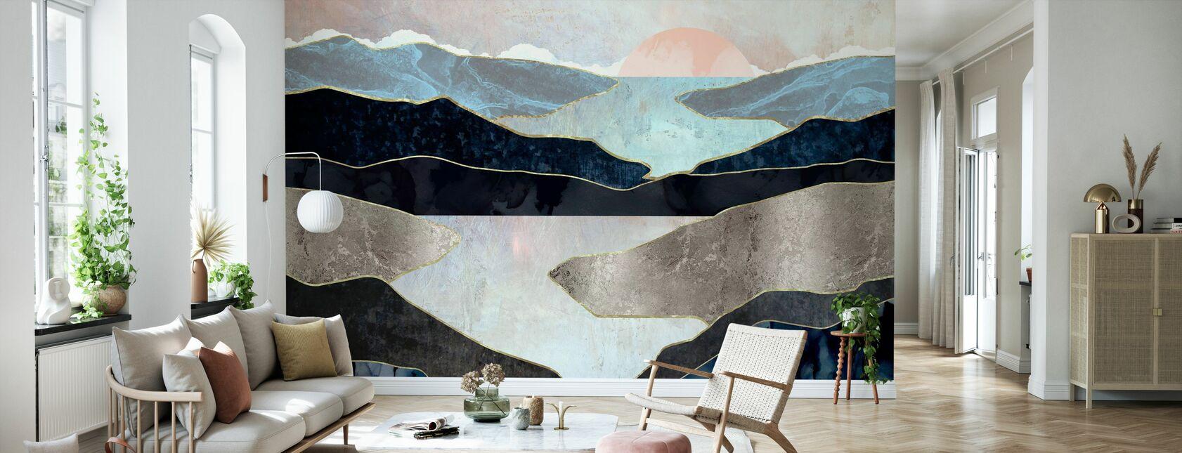 Blue Mountain Lake - Wallpaper - Living Room