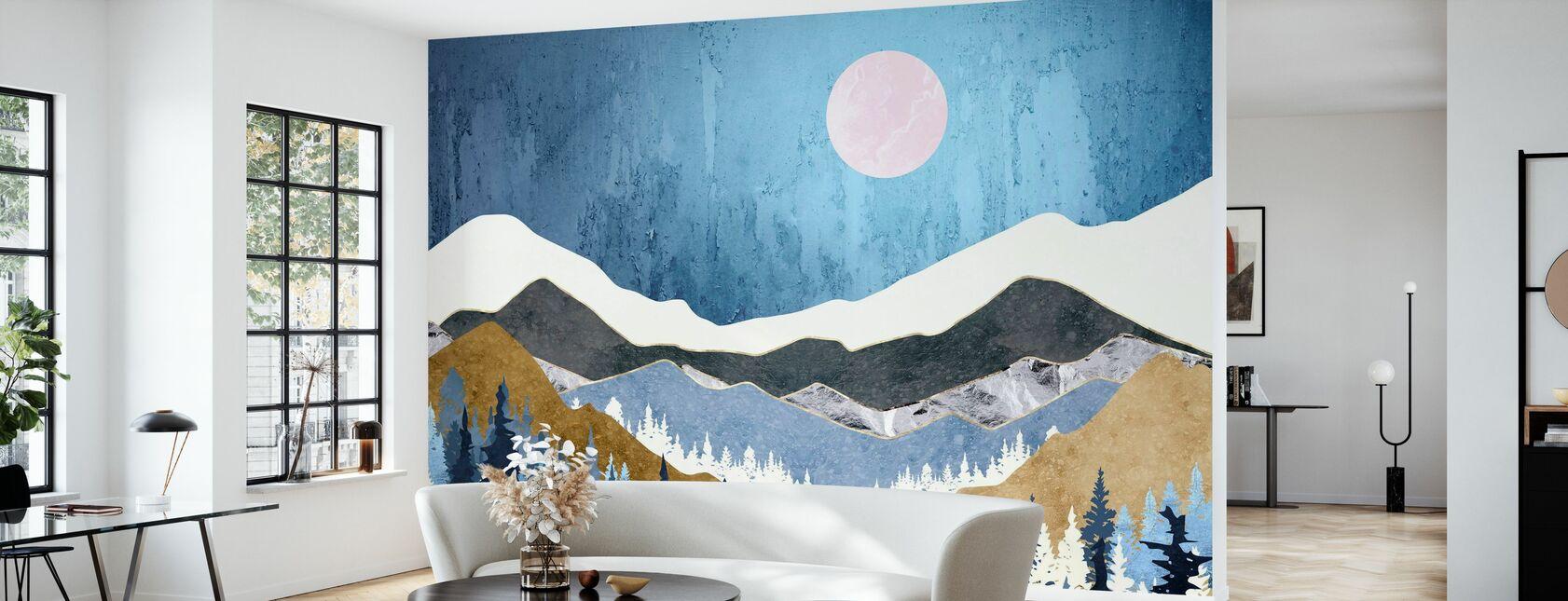 Blueberry Sky - Wallpaper - Living Room
