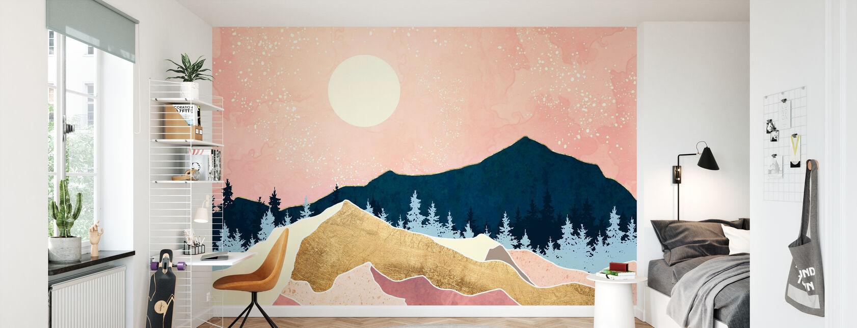 Coral Sunset - Wallpaper - Kids Room