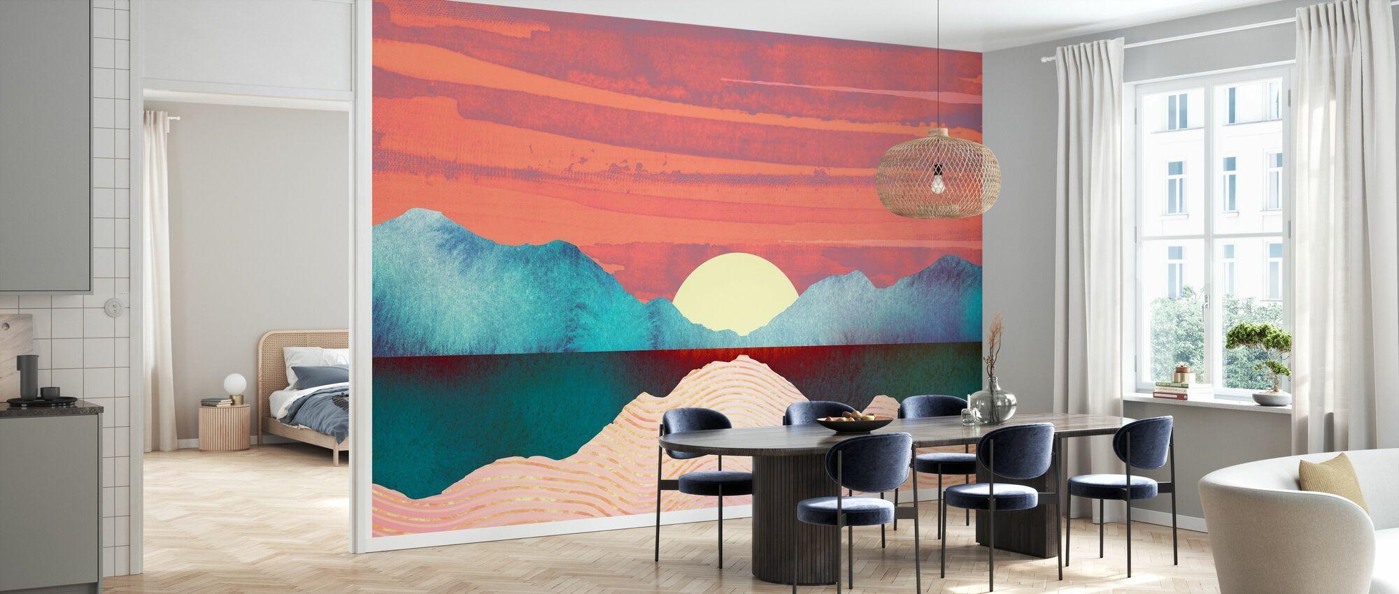 Pink Oasis - Wallpaper - Kitchen