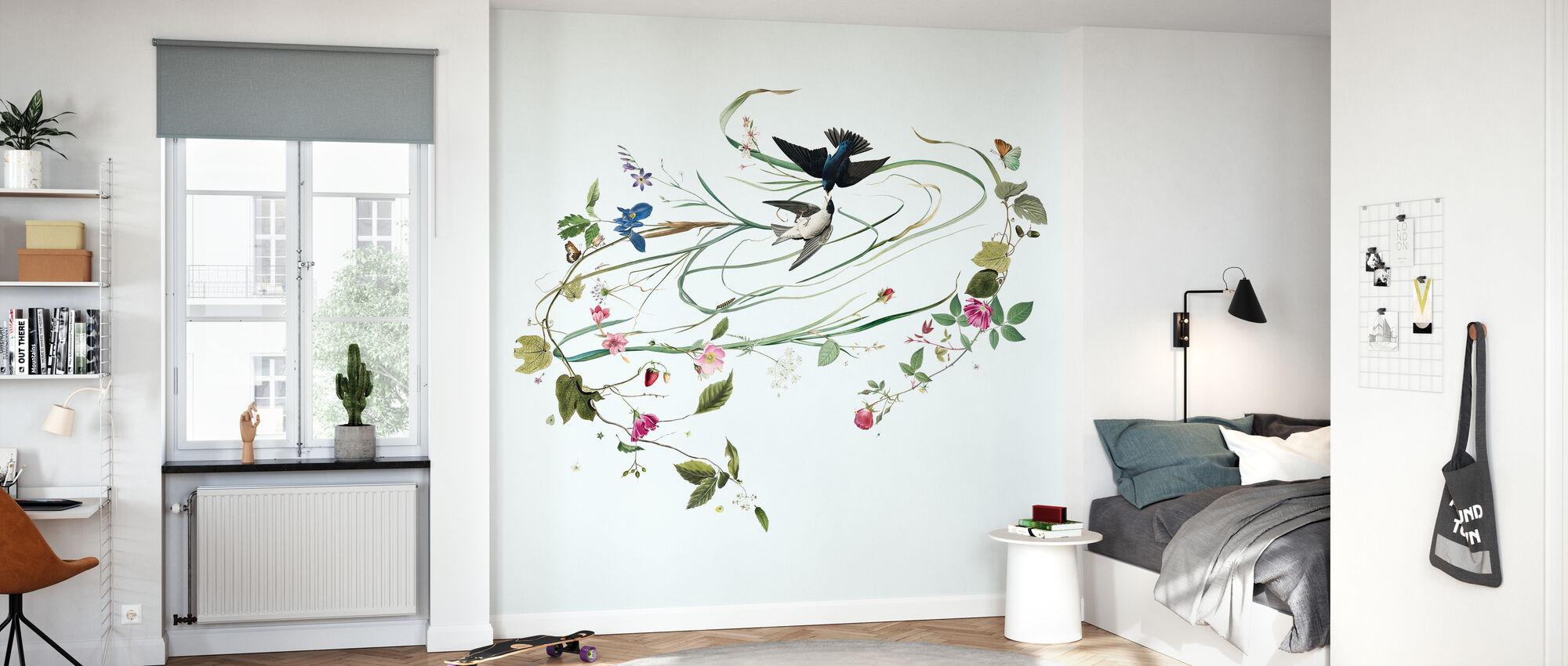 Hayfever - Broken White - Wallpaper - Kids Room