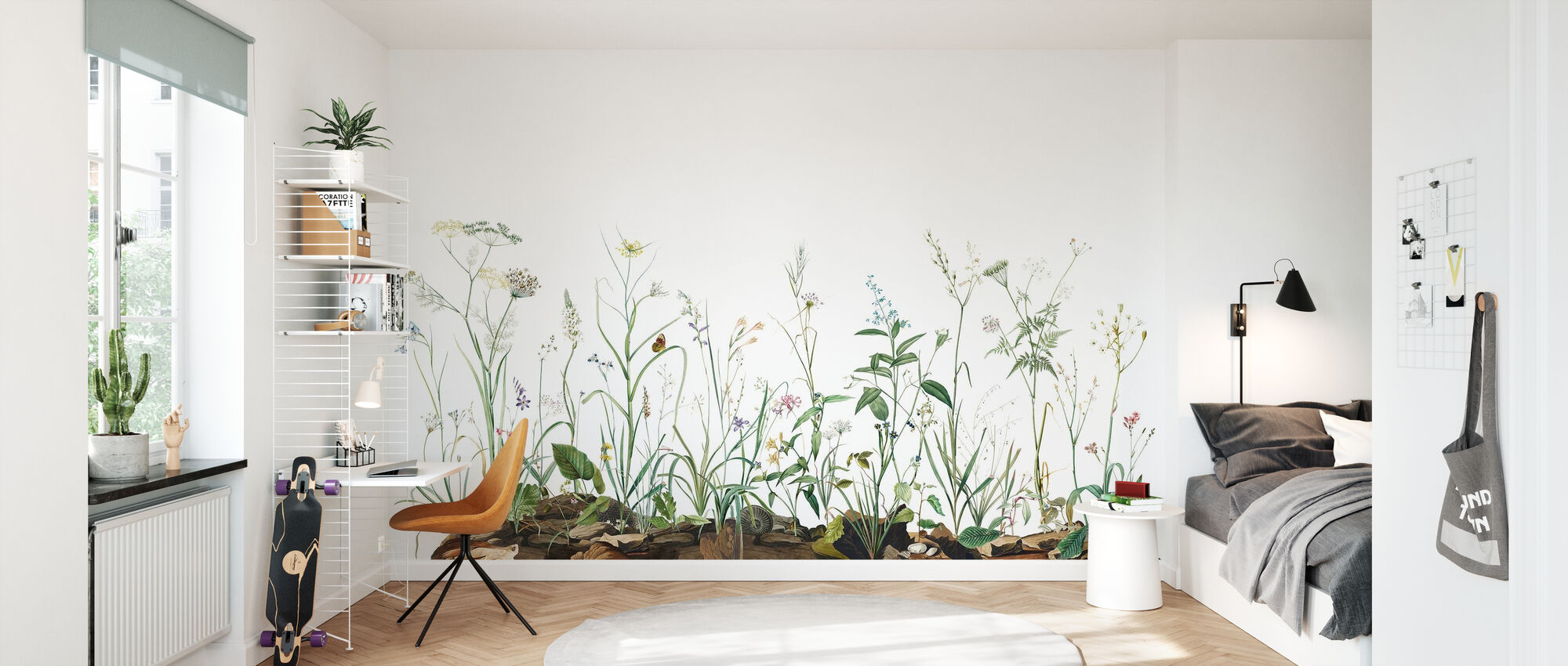 Midsummer Trail - Broken White - Wallpaper - Kids Room