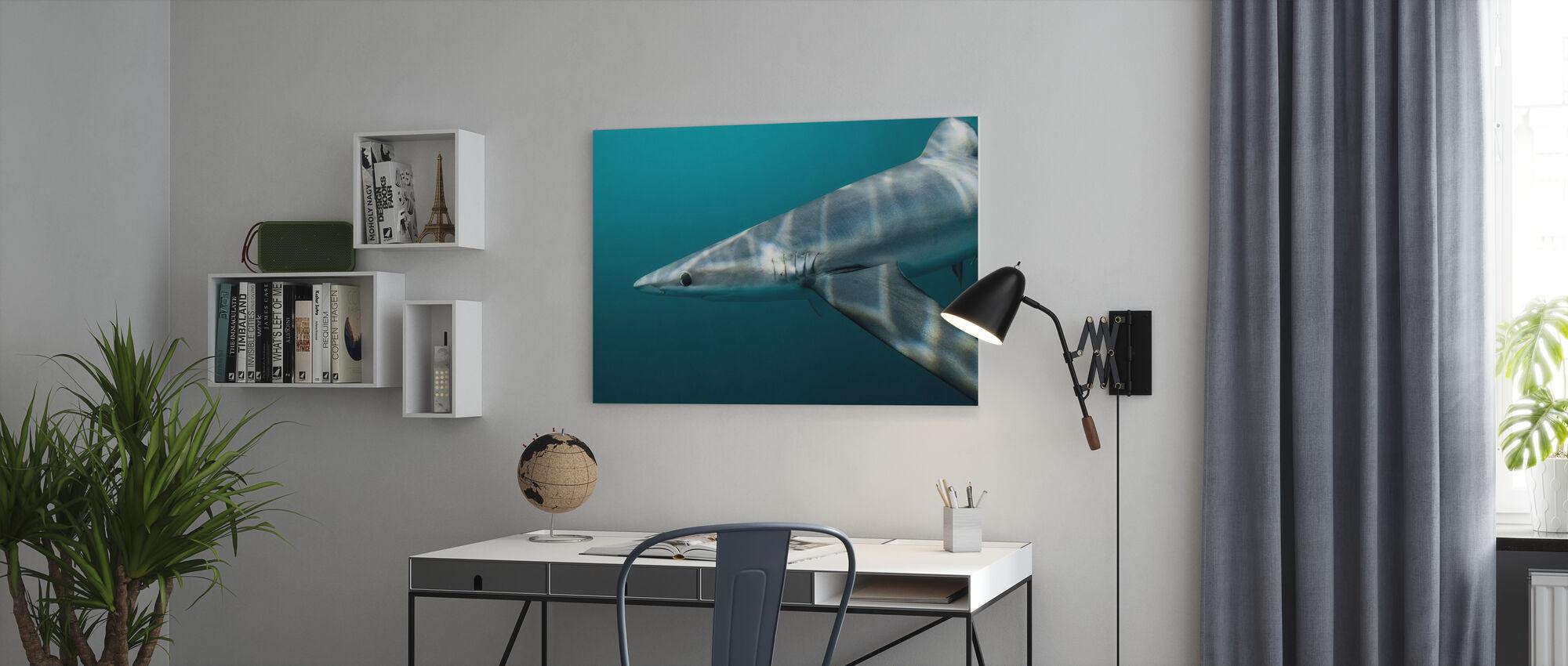 Blue Shark off Halifax - Canvas print - Office