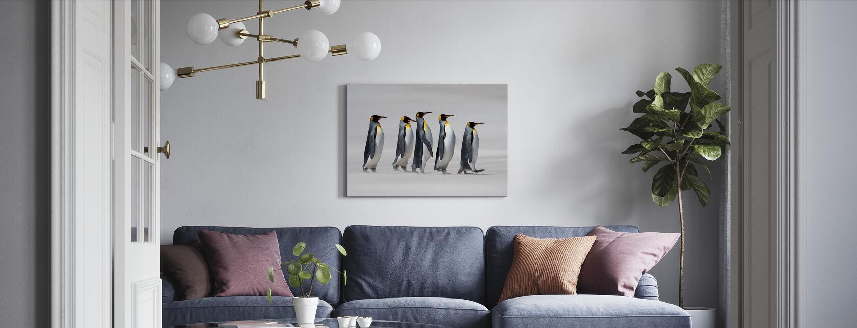 King Pingviner - Falklands - Billede på lærred - Stue
