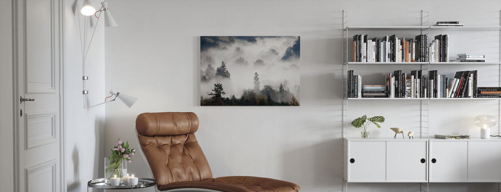 Bosland Mist - Canvas print - Woonkamer