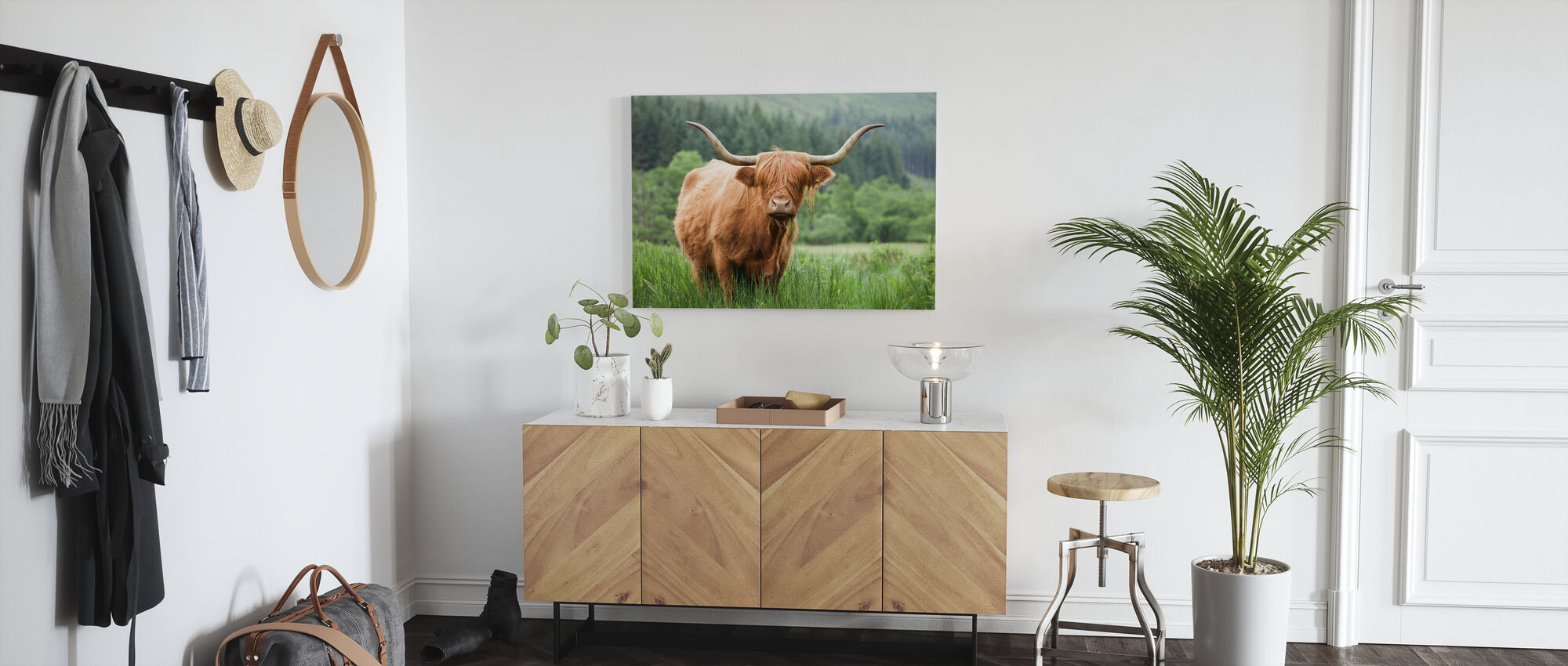 Highland Cattle - Canvas print - Hallway