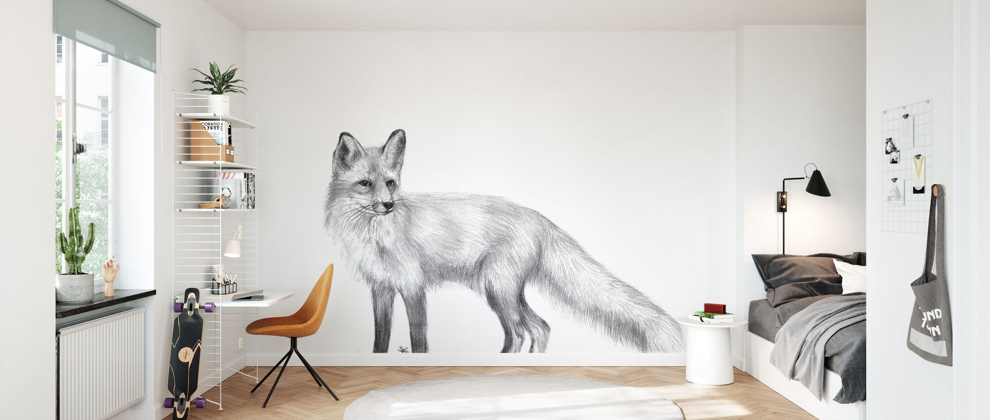 Wildlife Trail - Wallpaper - Kids Room