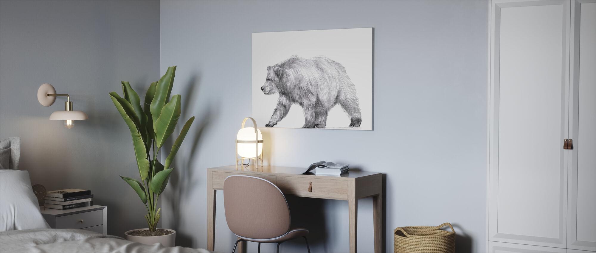 Wildlife Trail II - Canvas print - Office