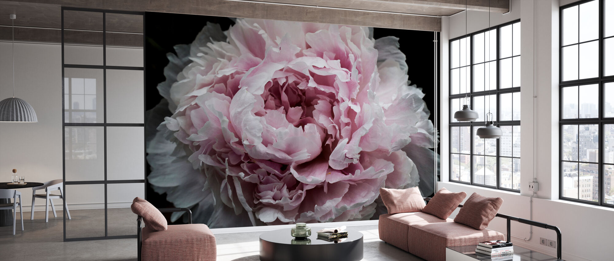 Pink Peony Passion - Wallpaper - Office