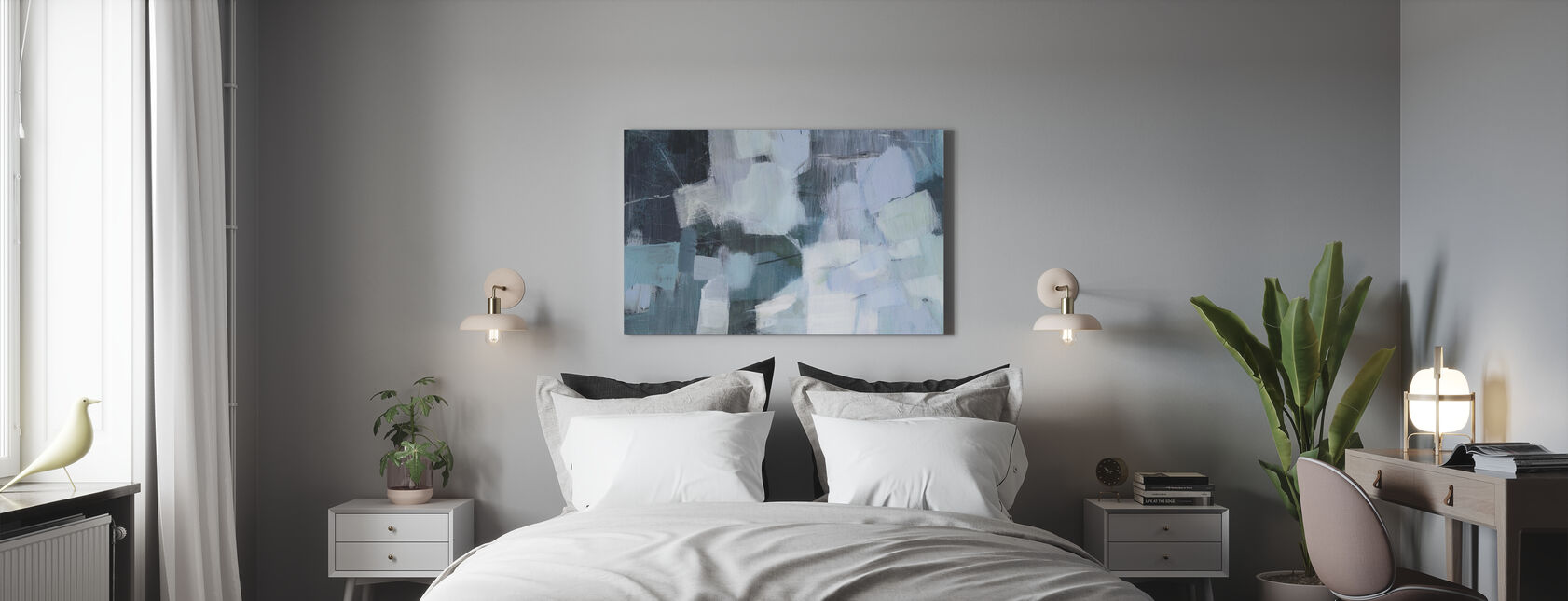 Blue Deluge - Canvas print - Bedroom