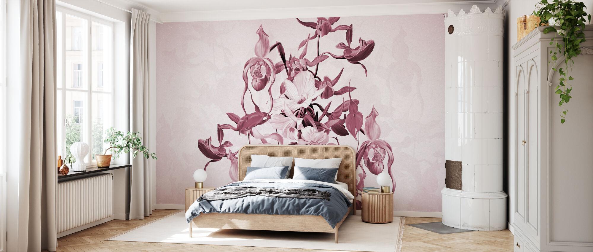 Blooming Orchids - Violet - Wallpaper - Bedroom
