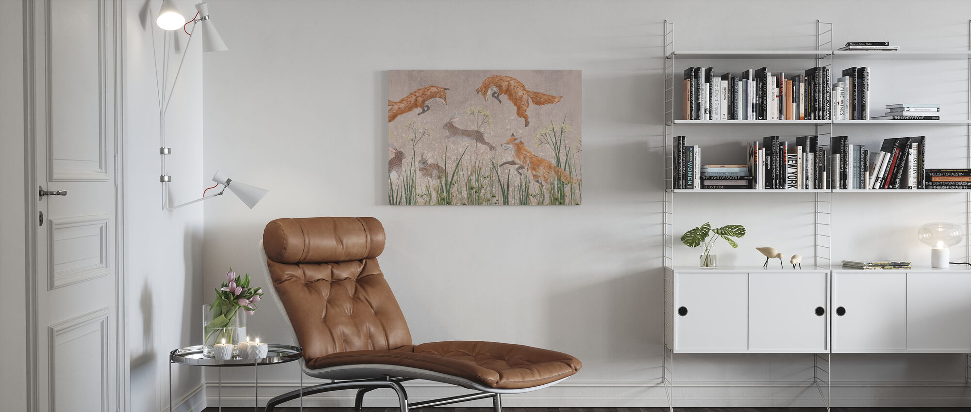 Jumping Foxes II - Canvas print - Living Room