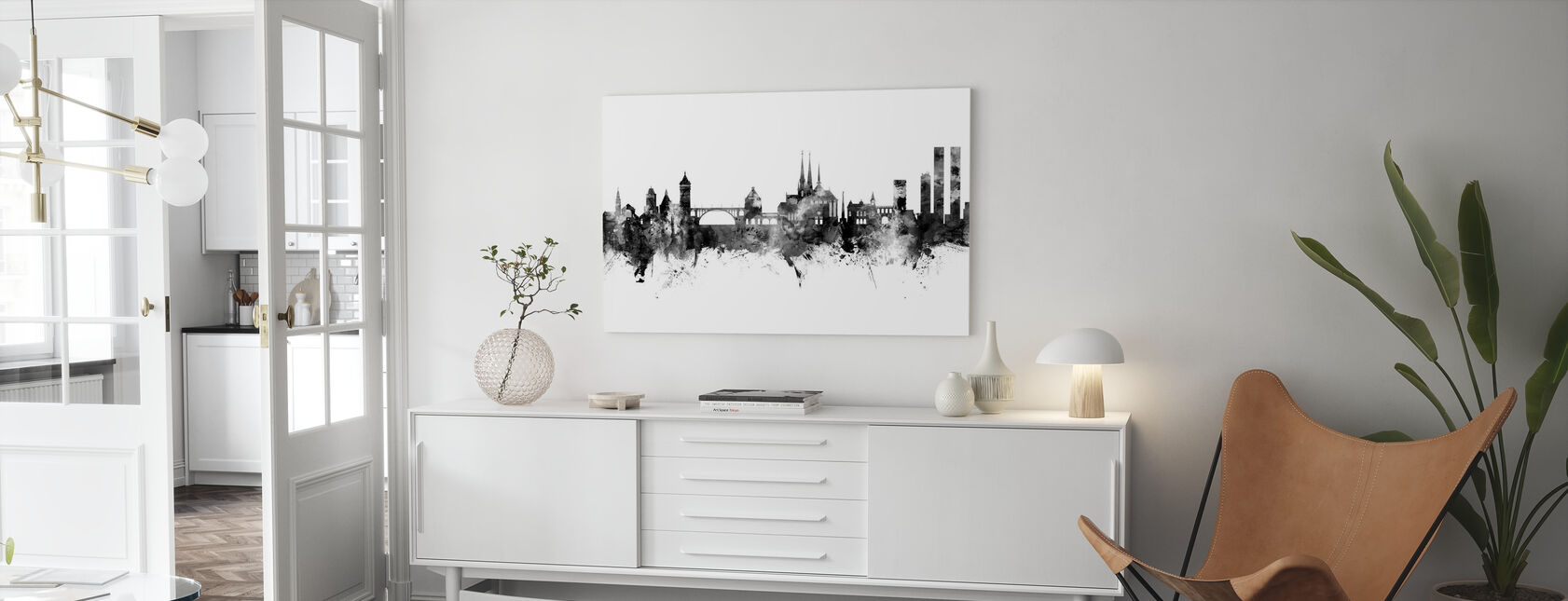 Luxembourg City Skyline - Canvas print - Living Room