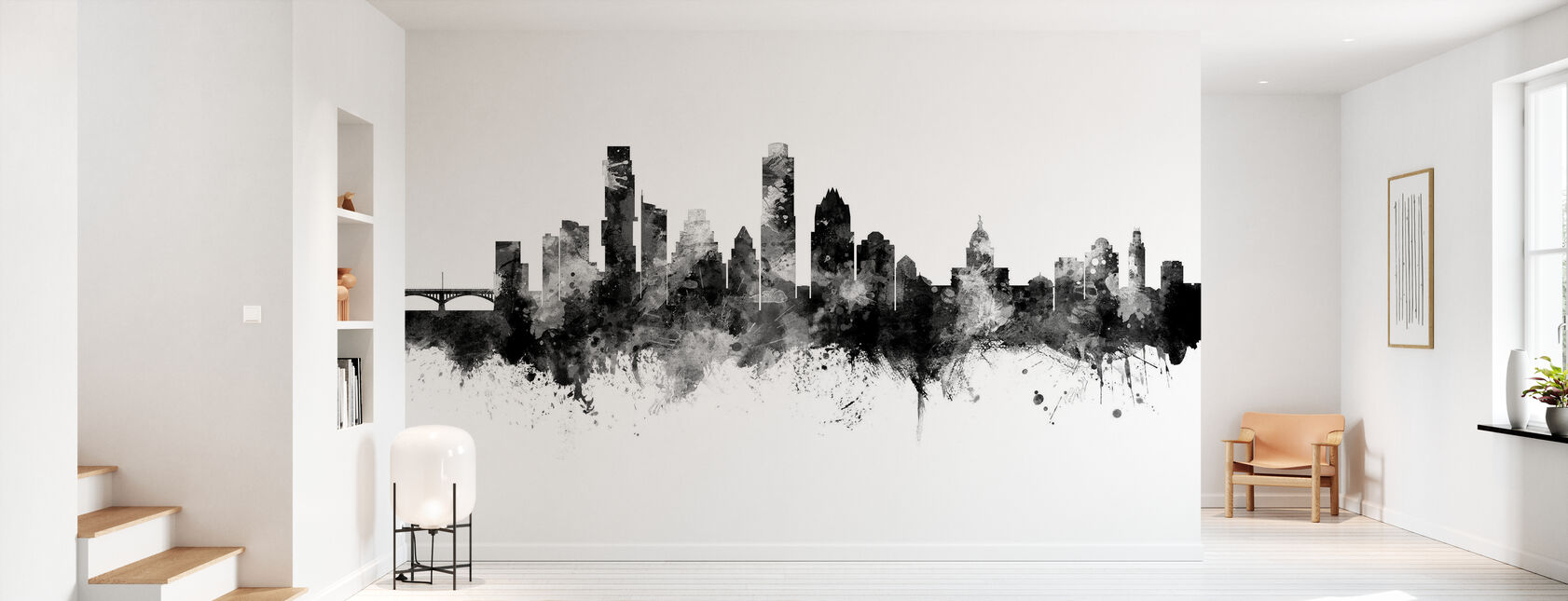 Austin Texas Skyline - Papier peint - Entrée