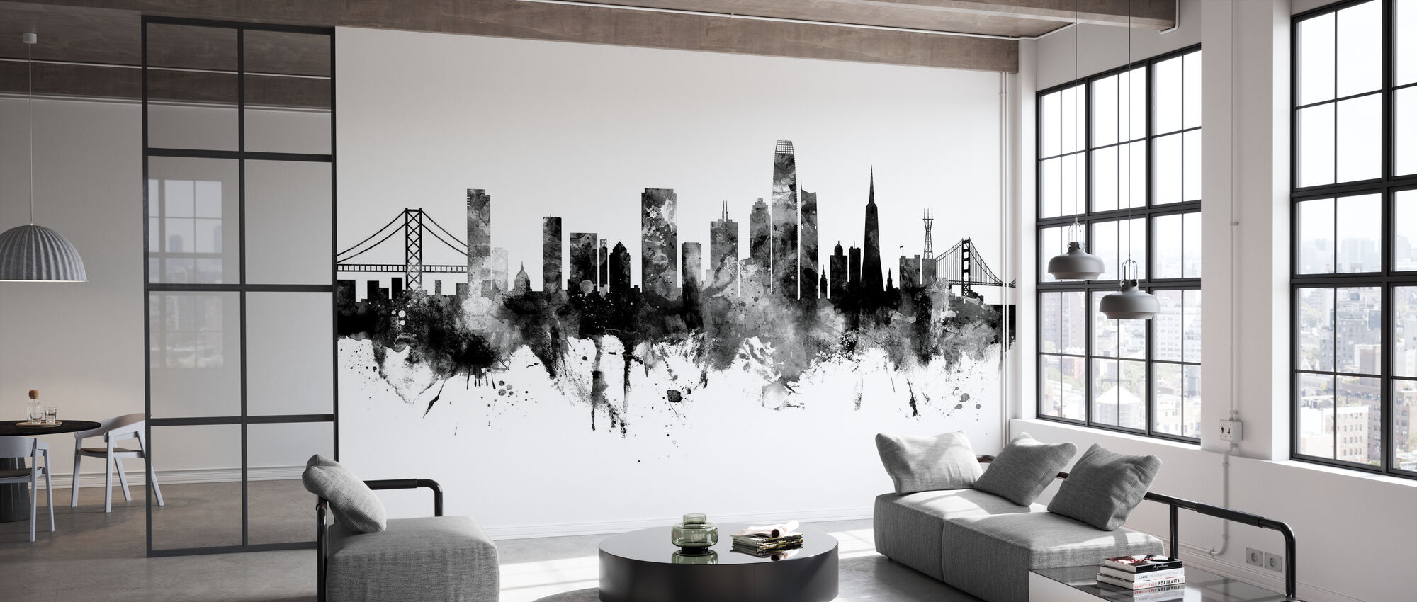 San Francisco California Skyline - Tapet - Kontor