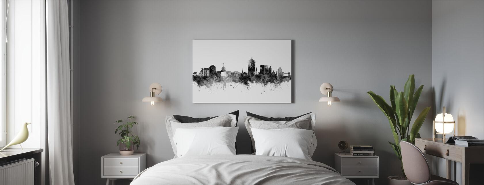 Montgomery Alabama Skyline - Billede på lærred - Soveværelse